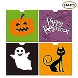 iFUNow 144 Pack Halloween Bags Bulk for Halloween Goodie Bags, Halloween Candy Bags, Halloween Treat Bags, Halloween Trick or Treat Bags, Halloween Party Favors Bags, Halloween Goody Bags
