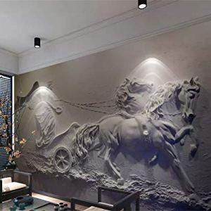 Avikalp Exclusive AWZ0284 3D Wallpaper Murals Angel Carriage Relief Background Home Decor HD 3D Wallpaper(548cm x 304cm)