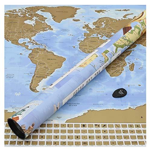 Perfect Travel Map - Carte du Monde - à gratter - pour...