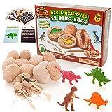 Prehistoric World - Jouet en Forme de Dinosaure - Kit de fouille des œufs de...