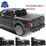 Deebior 1pc 5Ft(59.8'-60.5') Hard Tri Fold Truck Bed Tonneau Cover  CMH82059  +LED Lamp+Install Instruction+Waterproof Rubber Seals For 2016-2020 Toyota Tacoma