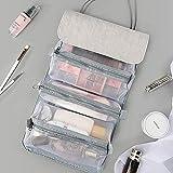 LASIMAO Bolso cosmético extraíble, Bolsa de Organizador de Maquillaje portátil, Bolsa de Maquillaje multifunción Bolso de Almacenamiento de Viaje 4 en 1 Caja de cosméticos separables,Gris