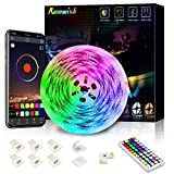 Ruban LED Bleutooth, Romwish 5M Bande LED SMD 5050 RGB Multicolore 150 LEDs...