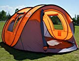 """Oileus Pop Up Tent Family Camping Tents 4 Person Tent for Camping Sky-Window(45""""x 25"""") Instant Camping Tent 14 Reinforced Steel Stakes & Carrying 114""""L 78""""W 51""""H"""