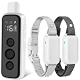 Bousnic Dog Shock Collar for 2 Dogs - (8-120lbs) Waterproof Rechargeable Electric Dog Training...