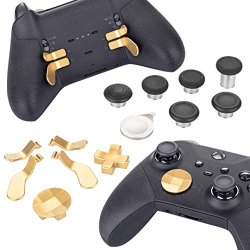 Elite Series 2 Controller Replacement Part Custom Accessory Kit (Xbox One, Xbox Series X), gold