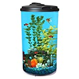 Koller Products AquaView 6-Gallon 360 Aquarium with LED Lighting (7 Color Selections) and Power Filter