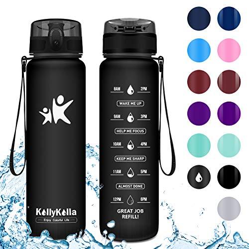 KollyKolla Gourde Sport - 1L, Bouteille d'eau Reutilisable avec Filtre,...