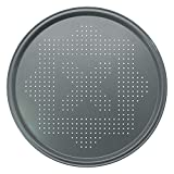 Chef Select Pizza Crisper Pan, 14-Inch Round, Large Size, Steel, Non-Stick, Perforated - Pizza, Fries, Bread, Large Cookies
