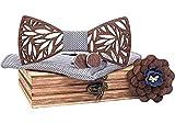 BeForBio Noeud papillon bois fait main, chic et tendance, accessoire mode...