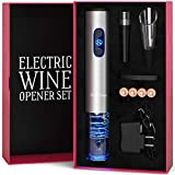 Electric Wine Opener Set with Charger and...