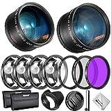 Neewer 55mm Objectif, Filtre et Accessoire Kit pour Nikon AF-S DX 18-55mm Canon...