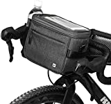 Rhinowalk Bolsa de Manillar Bicicletas de Carretera y de Montaña Ciclismo Bolsa Térmica para Bicicleta, Camping,Excursión, Incluye Correa para el Hombro Extraíble y Cubierta para la Lluvia (Gris)