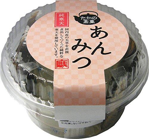 たかの茶菓 純寒天あんみつ 175g×8個