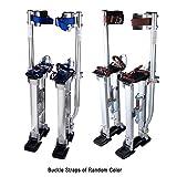 Yescom 24'-40' Professional Grade Adjustable Drywall Stilts Taping Paint Stilt Aluminum Silver