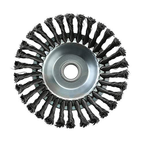 Spazzola per diserbo rotante, giunto a nodo intrecciato, filo di acciaio, spazzola per disco, ruota...