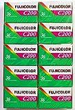 FUJIFILM カラーネガフイルム FUJICOLOR C200 36枚撮り 英文パッケージ 10本セット