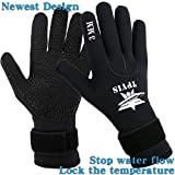 TPYIS Diving Gloves 3mm Neoprene Wetsuit Gloves for Scuba Diving Snorkeling, Surfing, Kayaking, Cleaning Pond and All Water Activities for Men and Women (Black, L)