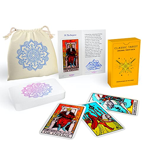 Sagesight Classic Design Tarot Cards Deck with Guidebook &...