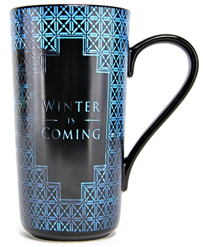 Game Of Thrones Taza Leche, cerámica, Color Negro y Azul, One Size