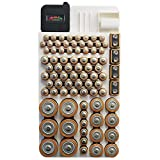 Battery Organizer Storage Case by Range Kleen Holds 82 Batteries Various Sizes WKT4162 Removable Battery Tester (Electronics)