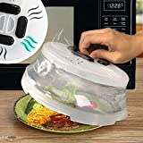 Microwave Food Cover Splatter with Magnetic, Large Collapsible Microwave Plate Cover Guard Lid, BPA Free, 10.8 Inches