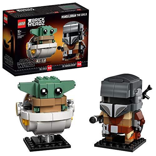 LEGO Star Wars BrickHeadz - El Mandaloriano y El Niño, Set de Construcción con los Personajes de...