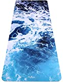 Plyopic Printed Yoga Mat | Eco-Friendly, Non Slip Mat with Carrying Strap. 1/4 inch. Ideal for Yoga, Pilates, Fitness, Exercise and Workouts