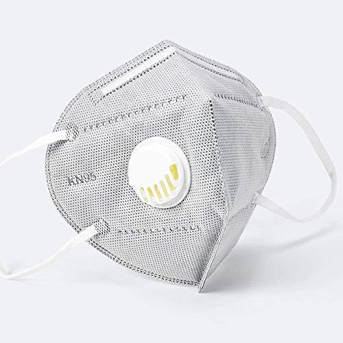 10 pcs Safety FFP2/PM2.5, con valvola di respirazione, adatto per molte occasioni, adulti uomini e donne Protezione personale