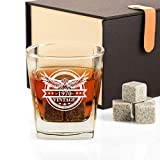 1970 50th Birthday Gifts for Men, Funny 50 Birthday Present Ideas for Dad Husband Brother Him, Vintage Bourbon Whiskey Glass and Stones Gifts, Anniversary 50 Year Old Bday Party Decorations