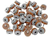 40pcs Furniture Glide,Screw-on Felt Pad Slider Floor Protector for Wooden Leg Feet of Chair Table Sofa(Φ20mm or 0.8',Brown)