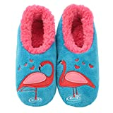 Snoozies Pairables Womens Slippers - House Slippers - Flamingo - Medium