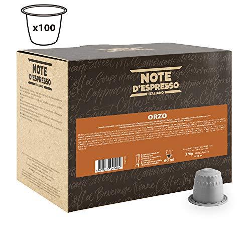 Note D'Espresso Orzo, Bevanda in capsule, 2,7 g x 100 Esclusivamente Compatibili con le macchine per caffè a capsule Nespresso*