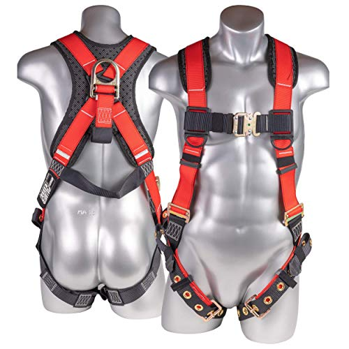 ATERET Fall Protection 5pt Safety Harness,...