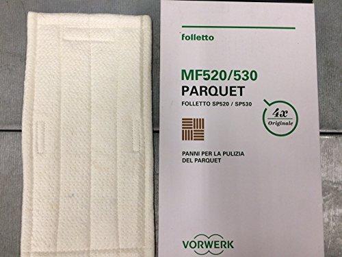 1 PANNO PULIZIA PARQUET MF520 ORIGINALE VORWERK FOLLETTO PER LAVAPAVIMENTI SP520 SP530