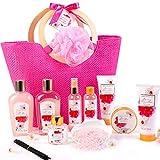 Coffret Bain au Parfum de Fleurs de Cerisier, 11 PCS Coffret Cadeau Femme, Comprend...