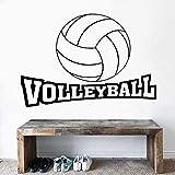 WERWN Voleibol Texto Texto caligrafía Arte de la Pared Voleibol Deportes hogar y decoración de la cancha de Voleibol