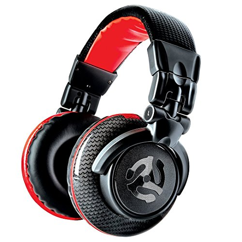 Numark RedWave Carbon - Cuffie per DJ Full Range, Leggere, Pieghevoli di Alta Qualit con Driver da 50 mm, Cavo Scollegabile, Adattatore da 1/8' e Custodia