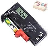 TAKIT Testeur de Piles numérique pour AA, AAA, C, D, PP3, 9V, 1.5V, Piles...