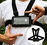 Use Your Mobile Phone as Action Camera Body Chest Mount Harness Strap - Mobile Phone Holder Used for Action Sports (Samsung, iPhone Etc)