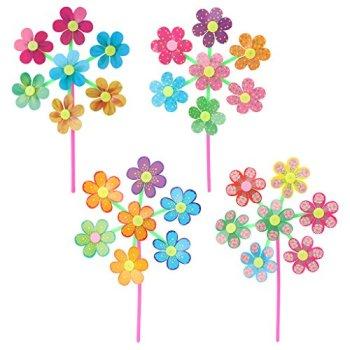 Fogun Dévidoir 1 Pièce Fleur Spinner Moulin à vent pour Jardin Maison Hof Party Décoration Enfant Couleurs