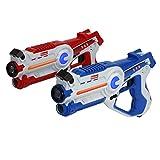 Kidzlane Infrared Laser Tag Game - Set of 2 Blue/Red - Infrared Laser Gun Indoor and Outdoor Activity. Infrared 0.9mW