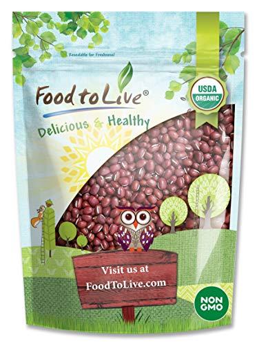 Organic Adzuki Sprouting Beans, 1 Pound - Non-GMO, Kosher, Dried, Bulk