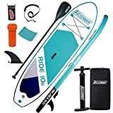 ACOWAY Paddleboard Inflatable, 10'6 ×32'×6' - Paddle Boards for Adults & Youth, Inflatable SUP Stand up Paddle Board Accessories with Backpack & Hand Pump - Inflatable Paddle Boards, Green