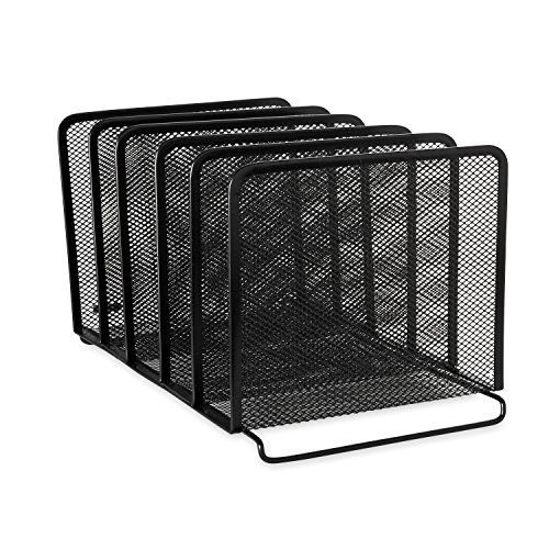 Rolodex Mesh Collection Stacking Sorter, 5-Section, Standard...