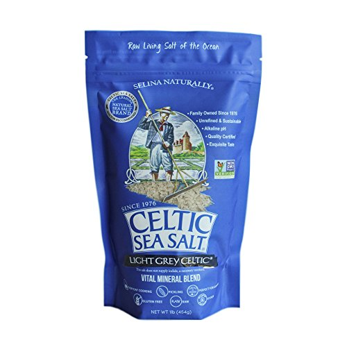 Celtic Sea Salt Light Grey, (1) 16 Ounce Bag, Great for Cooking & Baking, Pickling or Grinding, Non-GMO, Gluten Free, Kosher