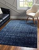 Unique Loom Del Mar Collection Contemporary Transitional Area Rug, 5' x 8', Blue/Navy Blue