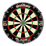 Winmau Blade 5 Bristle Dartboard with All-New Thinner Wiring for Higher Scoring and Reduced Bounce-Outs (Renewed)