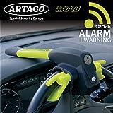 Artago 870 Canne Antivol Voiture 2en1 Bloque Volant et Alarme Intelligente...