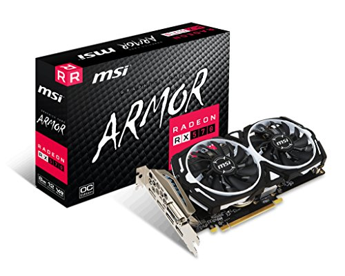 MSI Radeon RX 570 ARMOR - Schede grafiche (8 GB, GDDR5, 256 bit, 7000 MHz, PCI Express x16 3.0)